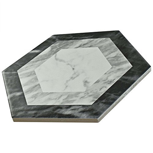 SomerTile FEQ8BXG Murmur Bardiglio Hexagon Porcelain Floor and Wall Tile, 7'' x 8'', Geo by SOMERTILE (Image #8)