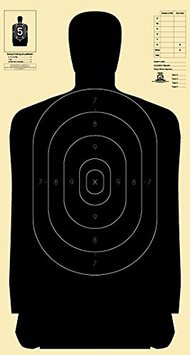 Nra Silhouette Targets - Official B-27 NRA, 50 Yard Police Silhouette Target, 24