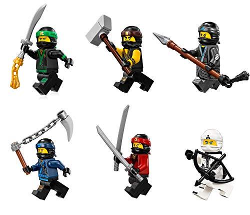 The LEGO Ninjago Movie Minifigure Combo Pack - Lloyd, Cole, Kai, Jay, Zane, and Nya (with Weapons) ()