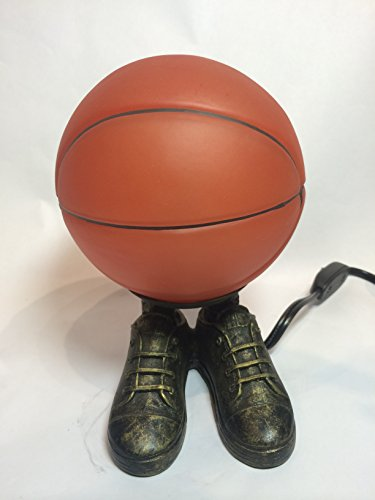 Orange NBA, NCAA Basketball Shoes Metal Glass Desk Lamp Night Light, TL4014D