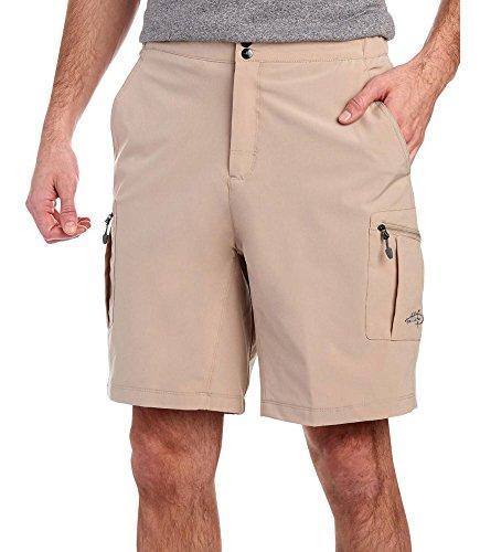 Double Cargo Pocket Short - Reel Life Men Hybrid Performance Cargo Shorts Oatmeal L