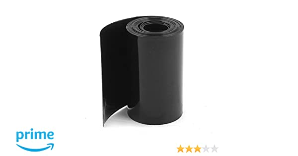 Uxcell PVC Heat Shrink Tubing Wrap, 2 m, 6.5 for 18650 Battery, 70 mm/44 mm, Black: Amazon.com: Industrial & Scientific