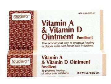 Fougera Vitamin A + Vitamin D Ointment, 2 oz Tube, 5/pk