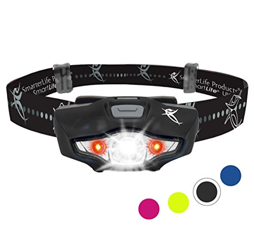Headlamp with LED CREE Technology - 6 Head Lamp Modes, 1 AA Battery, Lightweight, Water Resistant | For Camping, Running, Hiking, Car, Home and Emergency Kit | Perfect Headlight for Reading, Too (Jogging Kit 1)
