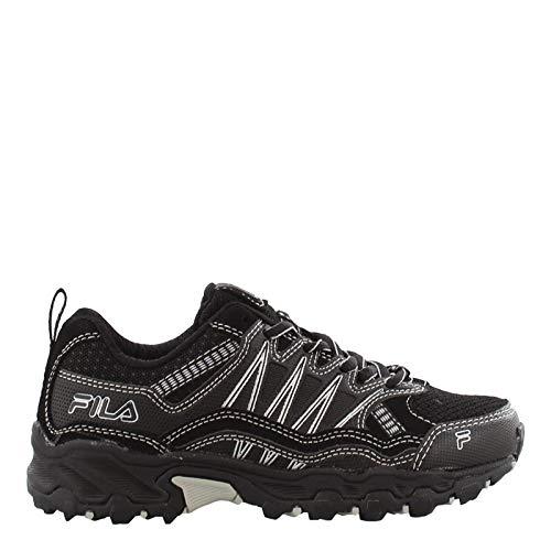 Fila Boy's, at Peake 21 Trail Running Sneaker Black Silver 4 M