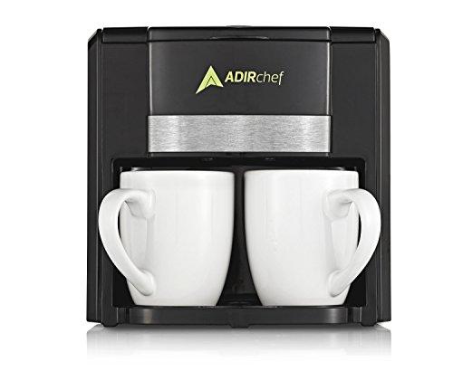 AdirChef BFF 2 Person/Cup Coffee Maker (Mugs Included) (Black)