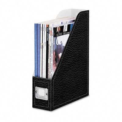 Corrugated Magazine File with Leather Like Print, Black, 2/Pack (FEL6100101) Category: Personal - Fellowes Leather