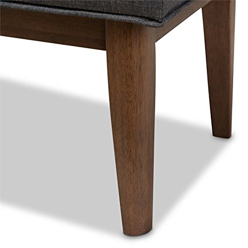 Baxton Studio Lucca Button Tufted Dining Bench in Dark Gray by Baxton Studio (Image #6)