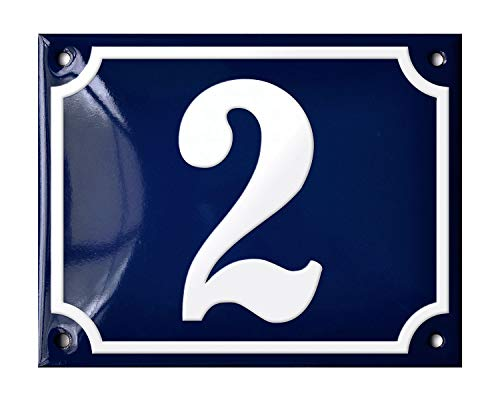 Ramsign Personalized Porcelain Enamel House Number Sign. 5.5