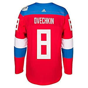 Alex Ovechkin Russia NHL Adidas Red Premier Wolrd Of Hockey #8 Jersey For Men
