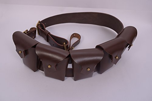 1903 Pattern Leather Five Pocket Bandolier for Jawa (Costumes Bandolier)