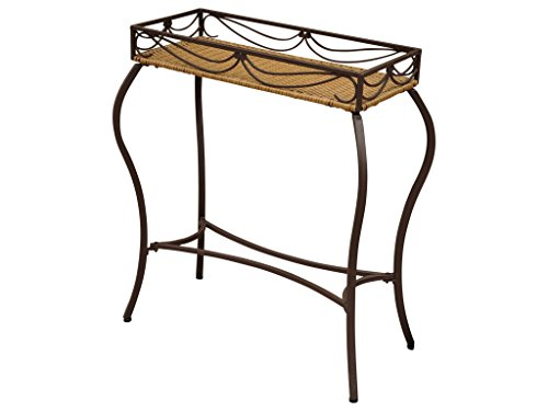 Wicker Resin/Steel Outdoor Plant Table (Resin Stands Plant)