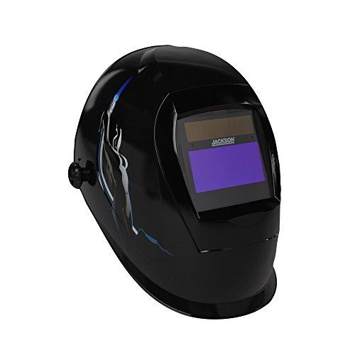 Jackson Safety SmarTIGer Variable Auto Darkening (ADF) Welding Helmet with Balder Technology (46139), Torch Dancer Graphic by Jackson Safety