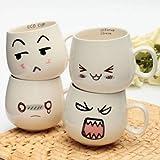 300ml Creative Cute Expression Ceramic Cups Cute Face Mug Tea Coffee Milk Cup