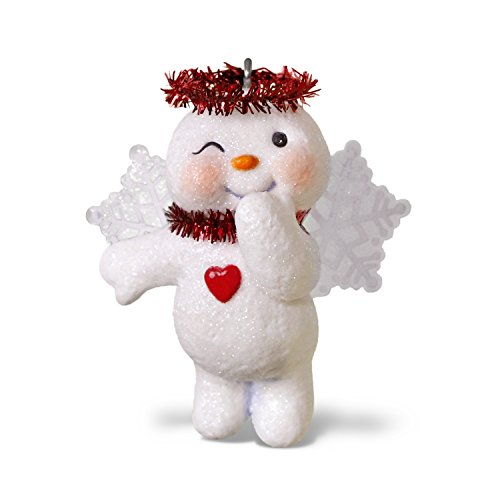 (Hallmark Keepsake Christmas Ornament 2018 Year Dated, Shining Snow Angel Snowman)