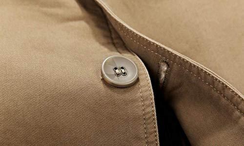 Lavoro Casual Cappotto Tasche In Giacca Uomo Cotone Leggera Khaki Uomo 2 Da 3 Strati Capispalla Vintage 4gnqE