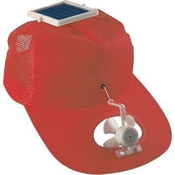 couleurs délicates 2019 real plus bas rabais Casquette ventilateur solaire rouge: Amazon.fr: Bricolage
