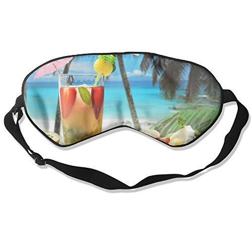 (Silk Sleeping Mask Eye Fruity Cocktail Lightweight Soft Adjustable Strap Blindfold For Night's Sleep Nap Travel Eyeshade Men And)