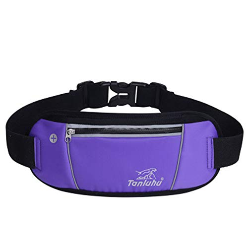 (MINIKATA Hip Bag, Waist Bag, Leather Waist Bag, Men's Fanny Pack, Bum Bag, Canvas Waist Bag, Belt Bag, Leather Fanny Pack, Festival Bag, Hip Bag, Waist Pouch, (Purple/one Size))