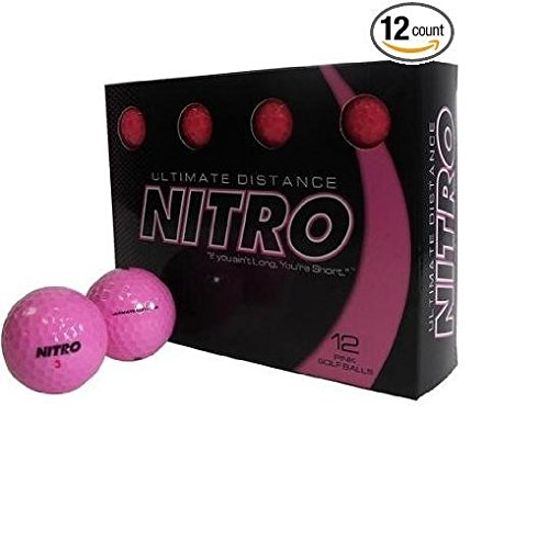 Nitro Ultimate Distance Golf Balls 12 Balls Hot (Ultimate Distance Ball)