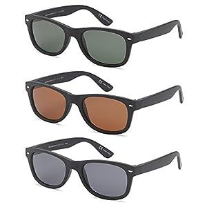 GAMMA RAY UV400 3 Pack 52mm Classic Style Sunglasses