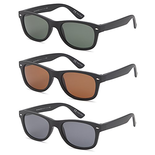 GAMMA RAY UV400 3 Pack 52mm Classic Style Sunglasses