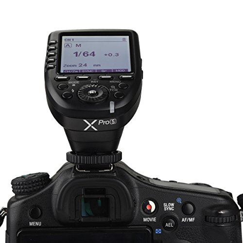 Godox Xpro-S 2.4G X System TTL Wireless Flash Trigger Transmitter & 2 x Godox X1R-S Controller Receiver Compatible for Sony Flash