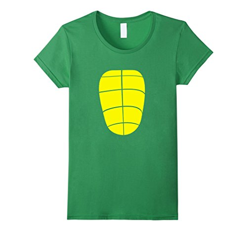 Female Superheroes Costumes Diy (Womens Turtle Shell Cute Comfy Clever DIY Halloween Costume T-Shirt Small Grass)
