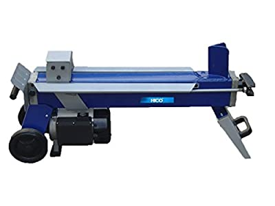 HICO HSP0552B 5 Ton 1500W Log Splitter Electric Hydraulic Firewood Splitters, Portable Powerful Wood Cutter with 6-Inch Mobile Wheels, 2HP, Blue