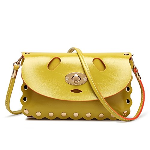 Hb900209c5 Pu Leather Korean Version Women's Handbag Square Cross-section Small Square Package