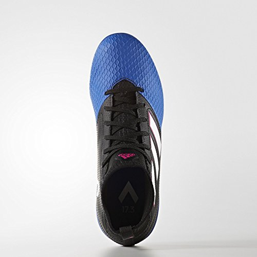 Adidas ACE 17.3 IN - botas de fútbol (Interior, Niño, Masculino, Indoor sole, Negro, Azul, Color blanco, Monótono) Negro, Azul, Color blanco