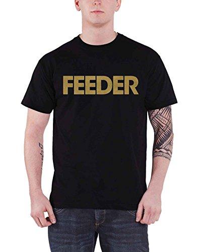 Feeder Shirt Band Logo Gold Echo Park Official Mens (Gold Feeder)