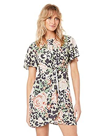 Shilla the Label Women's Enchant Animal Knot Dress, Floral Animal, S