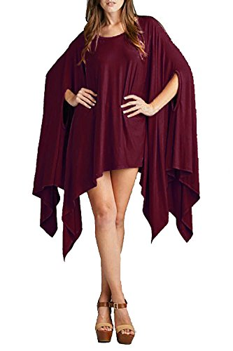 Vivicastle Women's Loose Bat Wing Dolman Poncho Tunic Dress Top (one Size, - Witch Cloth