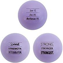 Teacher Peach Motivational Stress Balls, 3 Pack, Stress Relief Toys - Light Purple (10 Colors Available)