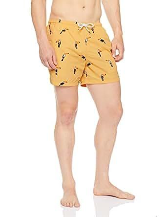 French Connection Men's Toucan Swim Short,Soft Mango, S