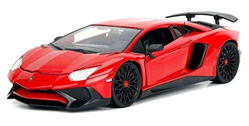 Jada 1:24 W/B - Metals - Hyper-Spec - Lamborghini Aventador SV (Gloss Red)