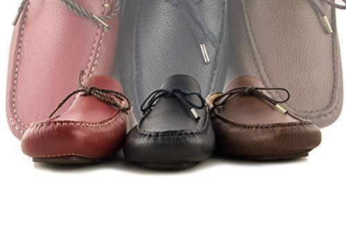 Verano 46 Hombre Tallas Hombre Piel Zerimar Rojo Náuticos Hombre Piel Náuticos Hombre de Náuticos para Mocasines Zapatos 50 Grandes Náuticos qvqOwZ0F