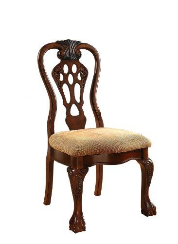 Furniture Of America Lennart Ii White Panel Bedroom Set: Furniture Of America Lissenia Formal Side Chair, Cherry