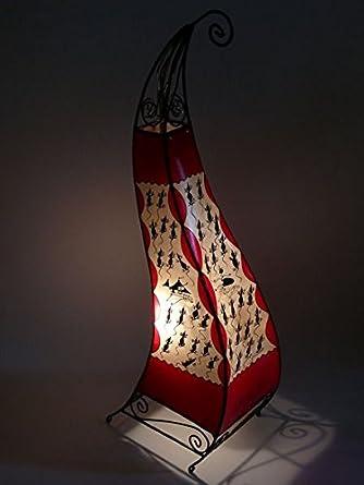 Marruecos henna lámpara de cuero oriental lámpara de pie ...