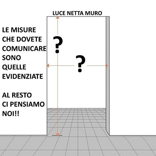 Porta scorrevole esterno muro in Noce Chiara completa di binario e ...