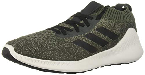 (adidas Men's PureBounce+ Running Shoe, Base Green/Black/Night Cargo, 10.5 M US)