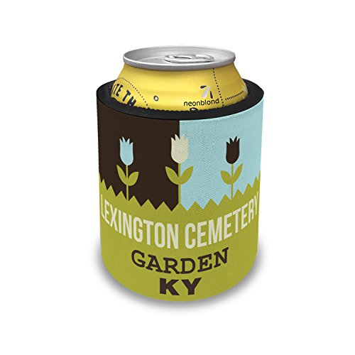 NEONBLOND US Gardens Lexington Cemetery Garden - KY Slap Can Cooler Insulator Sleeve