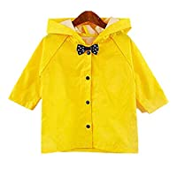 Yiluweinir Toddler Halloween Costume Button Down Hooded Kids Raincoat Girls Boys Halloween Party Rainwear Outdoor Cloth 2XL Yellow