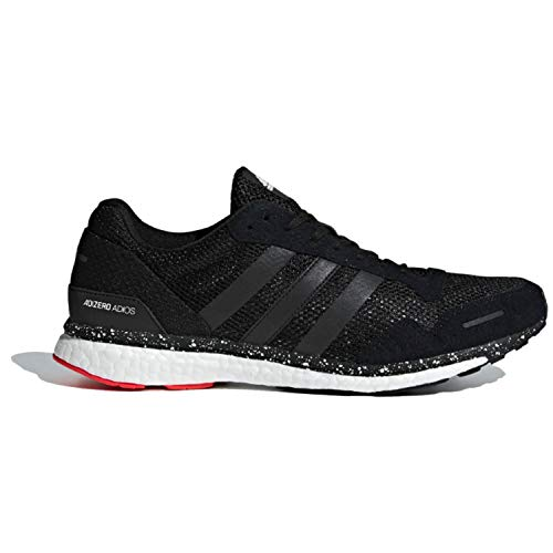 adidas Men's Adizero Adios 3 Running Shoe, hi-res red/Black/Bright Blue, 10.5 M US