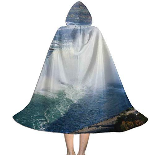 Niagara Falls Halloween Party (Niagara Falls Kids Hooded Cloak Cape for Halloween Christmas Cosplay Costumes)