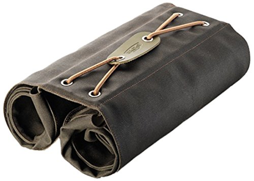 Brooks England Brick Lane Roll Up Pannier Canvas with Leather Belts, Mud/Olive