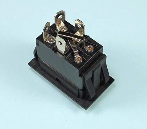 ((HY #8) Momentary Black Rocker Switch for Polarity Reversing DC Motor (ON) Off (ON))