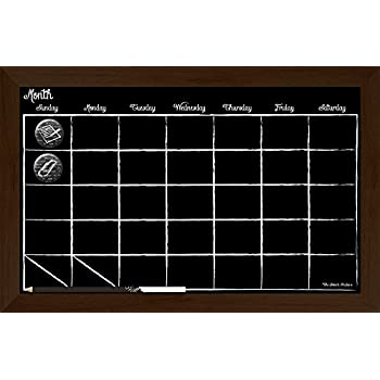 Amazon Com Large Chalkboard Calendar 2019 24 Quot X 18