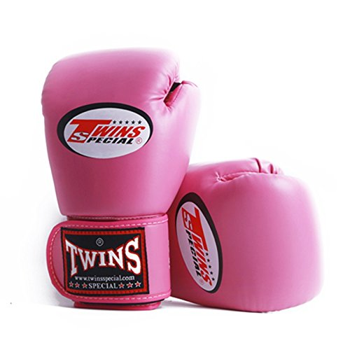 Pink Brand Boxing Gloves PU Leather guantes MMA manoplas boxeo Muay Thai karate taekwondo Training Boxing Glove : 1 Pair (Length 12-22 cm. Please 14 oz) - Bad Blood Costume Designer
